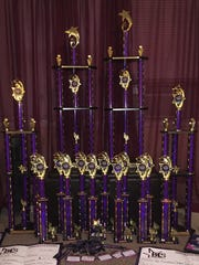 Trophies awarded to Flair from Nationals this month.