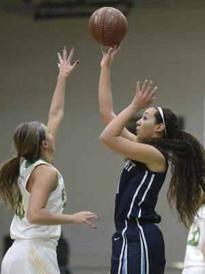 Bay Port's Brooke Harris, shown taking a shot against Green Bay Preble, was a unanimous All-FRCC selection.