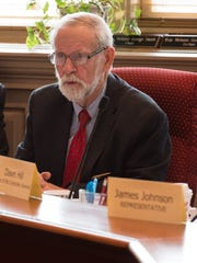 Harris B. McDowell, D-Wilmington North, chair of the Delaware General's Assembly's Criminal Justice Improvement Committee, comments during the presentation of the criminal code final draft at Legislative Hall in Dover.