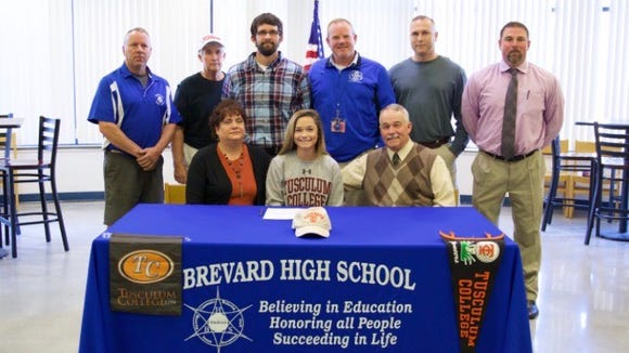 Brevard senior Meredith Barton has signed to play college golf for Tusculum.