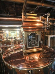A brass tank at Maker's Mark Distillery in Loretto,