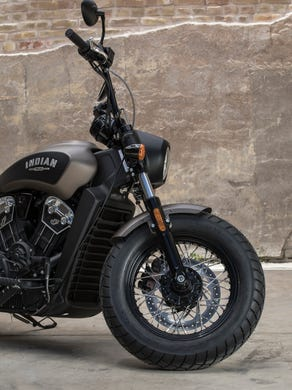 indian goes dark with scout bobber motorcycle