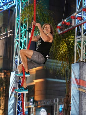 """Knoxville native Grant McCartney competes in the """"American Ninja Warrior"""" L.A. Qualifying Rounds during the show's 10 season."""