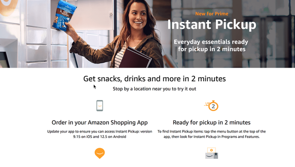 Amazon is offering two minute delivery of snacks on
