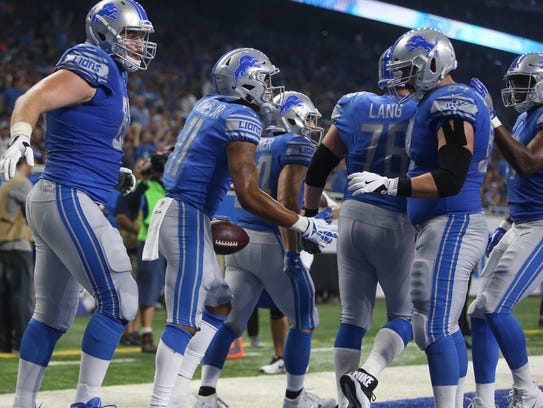 Lions receiver Marvin Jones has had several opportunities to celebrate touchdowns this season.