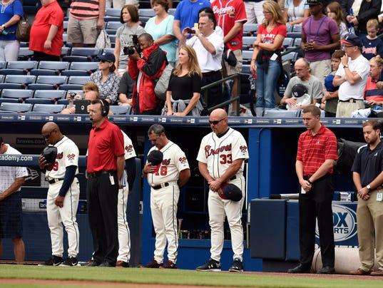 USP MLB: NEW YORK YANKEES AT ATLANTA BRAVES S BBN USA GA