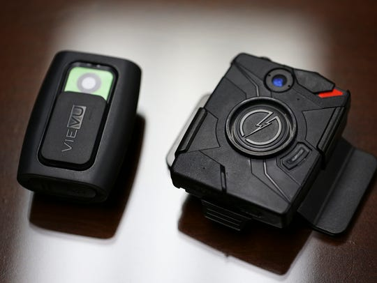 The VieVu and TASER brand body cameras being tested