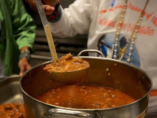 A pot of homemade chili was prepared and donated to the Regional Inter-Faith Association's soup kitchen by Shirley Love on Friday morning, in honor of her late husband, the minister Willie Love Jr.