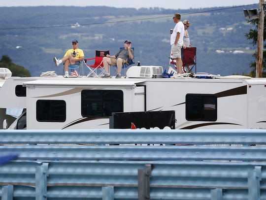 Watkins Glen International campers relax on their recreational