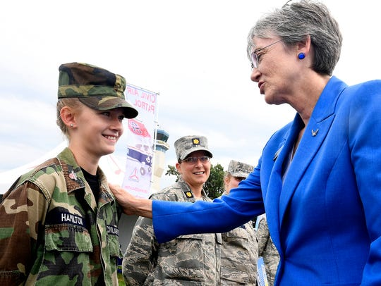 Secretary of the Air Force Heather Wilson encourages
