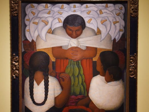 """""""Flower Day,"""" a 1925 oil on canvas by Diego Rivera,"""