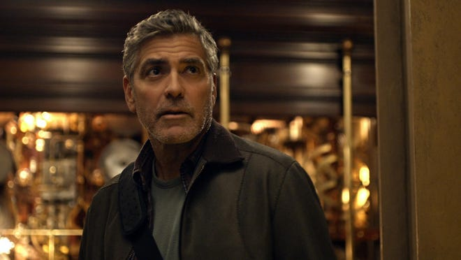 """George Clooney appears in a scene from """"Tomorrowland."""""""