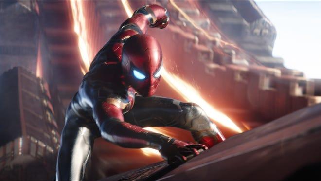"Spider-Man/Peter Parker (Tom Holland) in ""Avengers: Infinity War."""