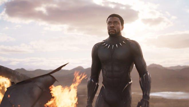 "Chadwick Boseman stars as T'Challa, aka Black Panther, in ""Black Panther."""