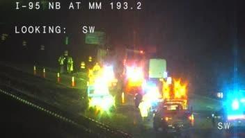 Fatal crash at mm 193 on SB I-95