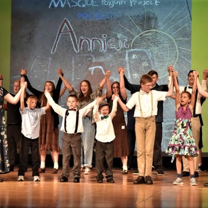 """The cast of the Penguin Project production of """"Annie"""