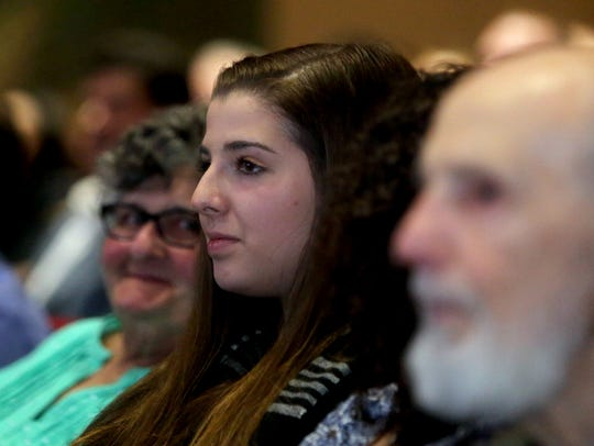Angela McDevitt, 17, a student at Arlington High School,