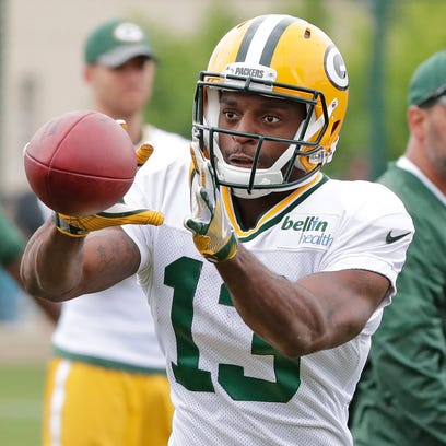Green Bay Packers wide receiver Harvey Binford  (13) during training camp at Ray Nitschke Field.