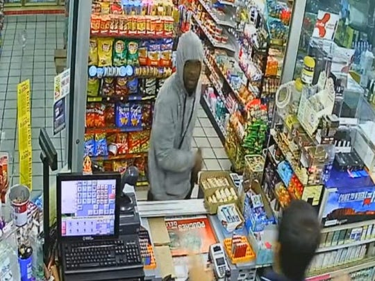 Police are searching for a suspect in a Christmas Eve Zelda Road robbery.
