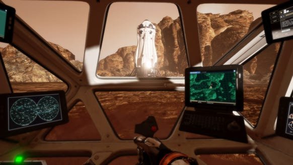 Driving a rover around the sandy Mars was a highlight