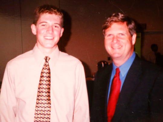 Alex Kuhn with Gov. Tom Vilsack.