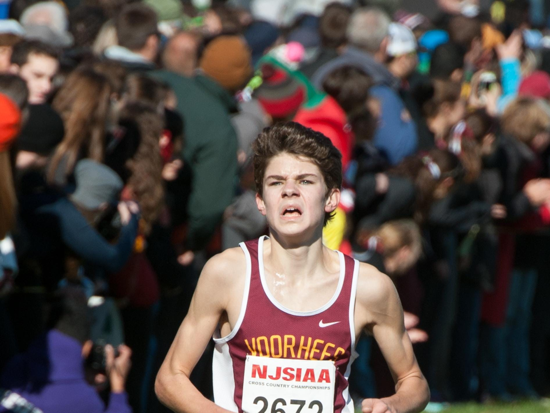 Chris Romero of Voorhees finished in 10th place at the Nike Northeast Nationals in Wappingers Falls, N.Y. on Saturday.