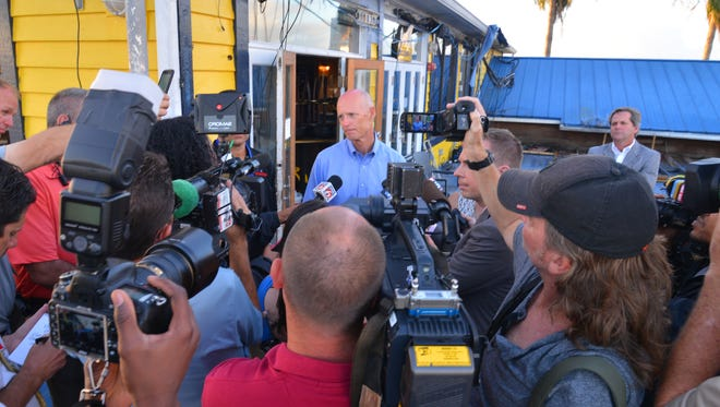 Early Tuesday morning Gov. Rick Scott toured Fishlips at the port, then went to Cocoa to thank first responders for their work in Hurricane Matthew. The governor talked to the media after his tour of Fishlips.