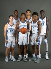 2016 17 Uk Basketball Freshman Players Left To Right