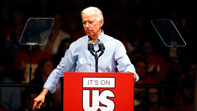 Joe Biden, the 47th vice president of the United States, discussed 'It's On Us,' a national campaign to end sexual assault on college campuses during his visit to Rutgers University.