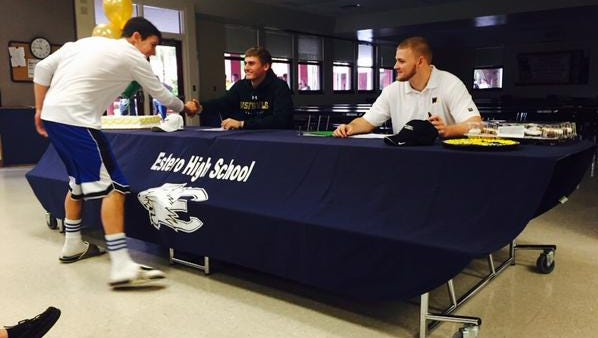 Jack Spicer and Cody Long from Estero High School will sign letters of intent Wednesday, Feb. 4