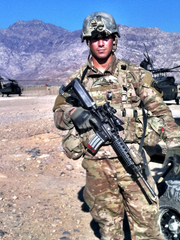 Former Army Sgt. Marc Coviello on deployment in Afghanistan in March 2014.