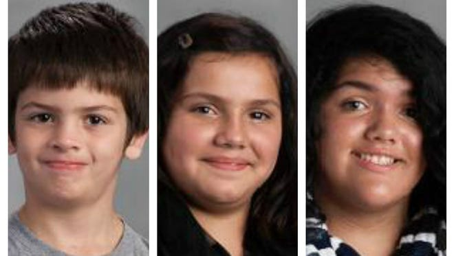 The three Flores-Ortiz children killed in Friday morning's fire in Hamilton.