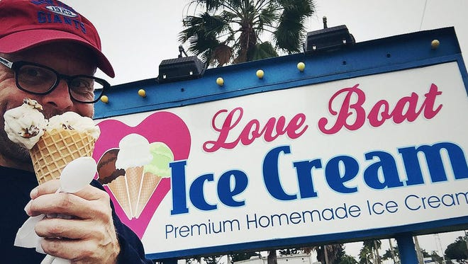 Food Network star Alton Brown stopped by a local landmark - Love Boat Ice Cream before his show at Barbara B. Mann Hall Thursday, Feb. 5, 2015