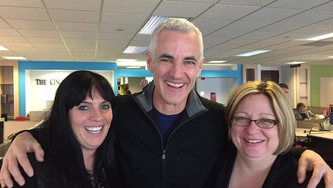 From left to right: Sharon Coolidge, John Faherty and Cindi Andrews, winners of the 'Best of Gannett' awards.