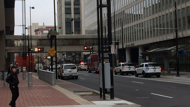 Several Downtown streets remained closed Thursday morning while the Potter Stewart U.S. Courthouse was locked down.
