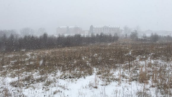 Snow is making it hard to see the old DeJarnette buildings