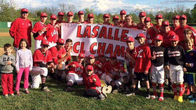 La Salle High School won the Greater Catholic League South baseball title on May 4 with a 10-0 win over Elder. It's La Salle's first conference baseball title since 1994.