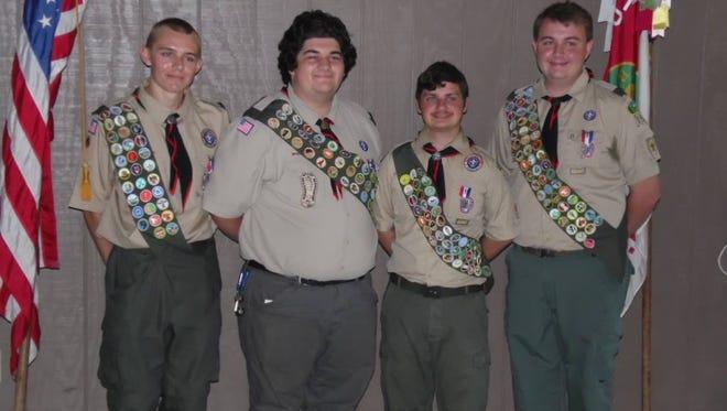Left to right Zack Csipkay, Eric Malko, Anthony Lines , Luke McLaughlin