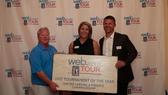 Patrick Nichol, President, Tour Vision Promotions, Laureen Cates, Vice President, Tour Vision Promotions, and Dan Glod, President, Web.com Tour.