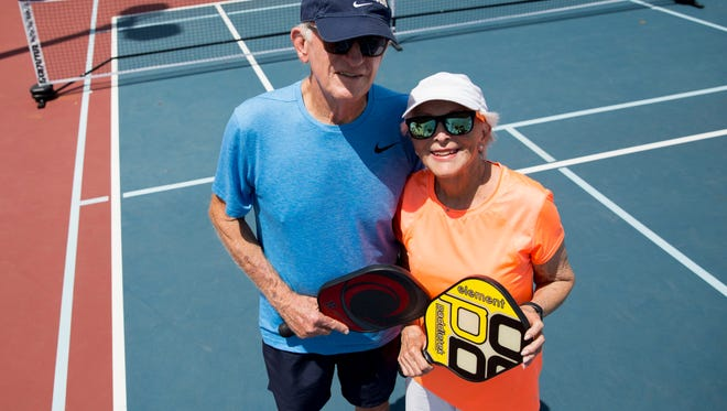 Ward Powers, 91, and his wife Lauren, 86, are both competing in the 2018 U.S. Open Pickleball Championships Thursday, April 26, 2018 in Naples. Ward, at 91-years-old, is the oldest player playing in this years tournament.