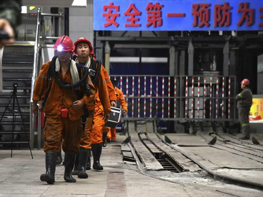 China Coal Miners Trapped