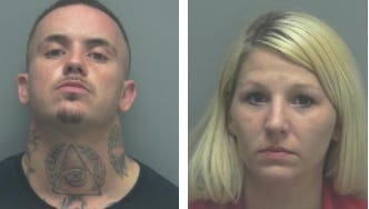 Daniel and Kayla Crossen were arrested after allegedly accepting more than $4,000 Xanax pills in a parcel delivered by authorities.