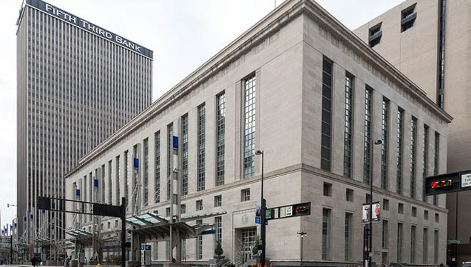 The Potter Stewart U.S. Courthouse in Cincinnati, Ohio, houses the 6th Circuit U.S. Court of Appeals.