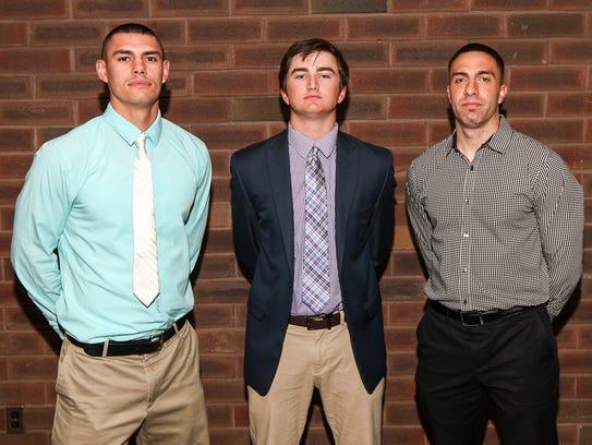 Woodbridge coaches, Anthony Nyers, left, and Joe Lasala,