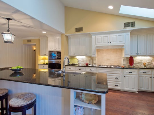The home's best feature is the grand kitchen that opens