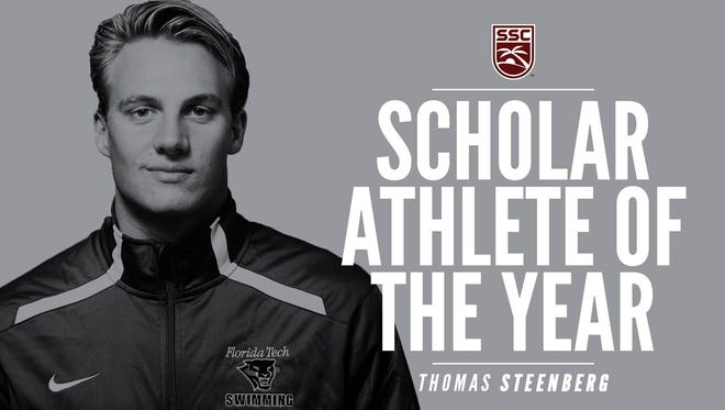 Men's swimmer Thomas Steenberg is first Florida Tech student-athlete to be honored as SSC Male Scholar-Athlete of the Year