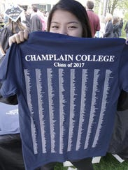 A Champlain College graduation shows off her Class