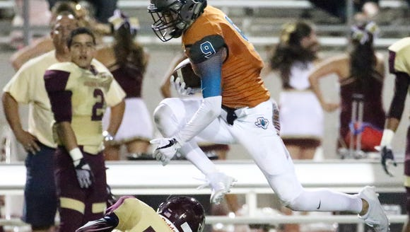 Caleb Gerber, 9, of Pebble Hills leaps to avoid Ramon