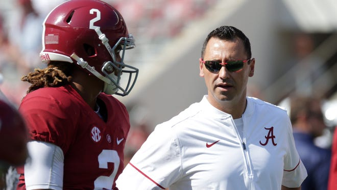 Steve Sarkisian will take over as Alabama's offensive coordinator.