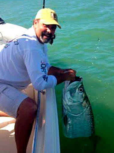Bokeelia angler Ron Smits' tarpon was one of three
